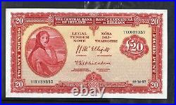 Irish Republic £20 Pounds / Punt (11X 039357) Dated 23- 10- 1957 Lavery Note
