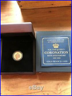 Isle Of Man Gold Proof One Pound Coin 2018 Rare COA 129 Of 495