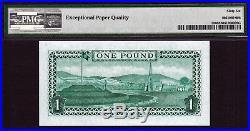 Isle of Man QEII One Pound ND (1983) TYVEK Prefix- N Pick-38 GEM UNC PMG 66 EPQ