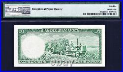 Jamaica QEII One Pound 1960 Pick-51Cd GEM UNC PMG 65 EPQ