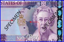 Jersey £100 Banknote One Hundred Pound Diamond Jubilee note prifix QE60009112
