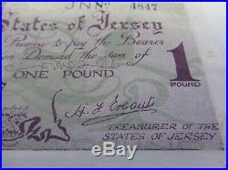 Jersey, German Occupation One Pound Banknote