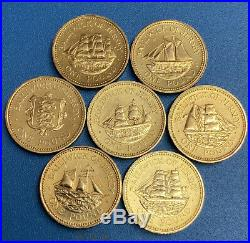 Jersey One Pound £1 Ship Building/ Ship Set, Complete Collection! Inc Seal Coin