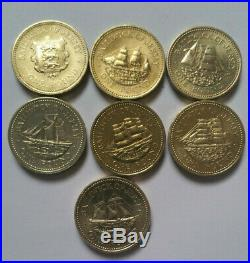 Jersey shipbuilding series £1 one pound coin set