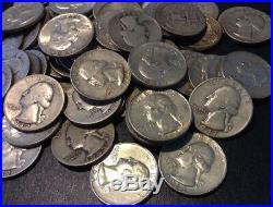 Lot (70) ONE POUND 90% JUNK SILVER COINS ALL QUARTERS 16 OUNCES OZ