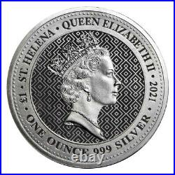 Lot of 10 2021 U. K. 1 Pound Silver Queen's Virtues Victory. 999 1 oz BU