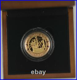 MARY ROSE 2011 UK £2 TWO POUND GOLD PROOF COIN box/coa/outer