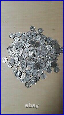 MERCURY(1) ONE Troy Pound LB U. S. Mercury Dimes Silver Coins No Junk Pre-1965