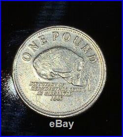 MINTING ERROR 2007 Gibraltar Discovery of Neanderthal Skull one pound coin rare