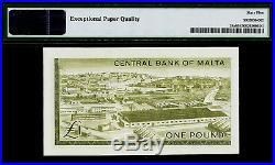 Malta One Pound 1967 (ND 1969) QEII Pick-29a GEM UNC PMG 65 EPQ