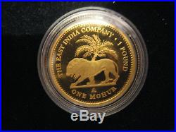 Mds St. Helena One Mohur 1 Pound 2012 Proof The East India Company, Gold