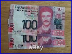 Mint Uncirculated Clydesdale Bank Scotland One Hundred Pound Note £100