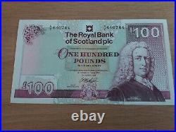 Mint Uncirculated Royal Bank Of Scotland One Hundred Pound Note £100