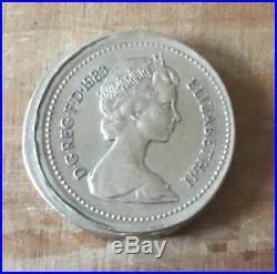 Misstrike 1983 Old One Pound Coin