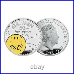 Mr Men Collection £5 Official Royal Mint One Ounce Silver Proof Five Pound Coin