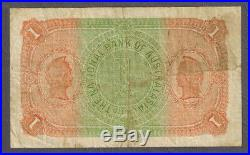 National Bank of Australasia 1910 Collins/Allen One Pound Superscribed Note