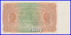 National Bank of Australasia (Melbourne) 1887 One Pound Unissued Specimen Note M