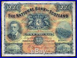 National Bank of Scotland, One Pound, H222-012. 1-8-1914, Banknote Year Book