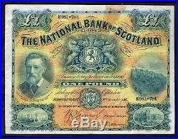 National Bank of Scotland, One Pound, H981-784. 11-11-1915, Banknote Year Bo