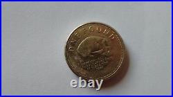 Neanderthal Skull Gibraltar £1 One Pound Coin Rare