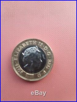New 2016 1 one pound coin rare error (round edge)