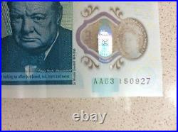 New AA03 five pound note Collecters