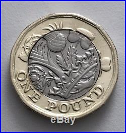 New One Pound Coin Twelve Sided Uncirculated ERROR out of alignment