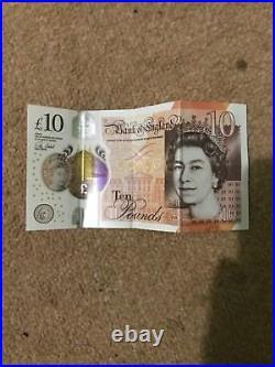 New UK BRITISH GENUINE £10 TEN POUND NOTE Serial number AK11