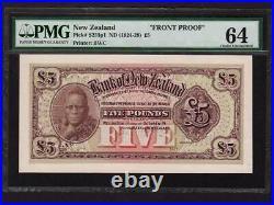 New ZealandP-S235p1,5 Pounds, 1924-28 Maori Chief Proof PMG Ch. UNC 64