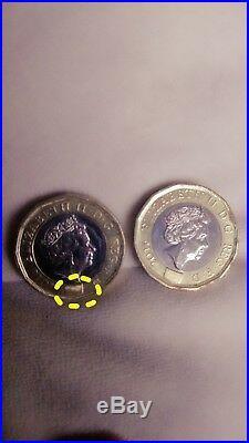 New one pound coin £1 print error ONE OF A KIND half hologram misprint misstrike