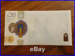 New polymer 20 pound note JMW Turner Misprint Clear on one Side £20