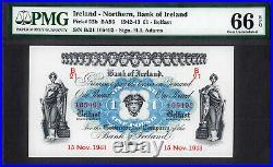 Northern Ireland One Pound 15th November 1943 Pick-55b GEM UNC PMG 66 EPQ