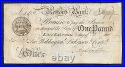 Nottinghamshire, Retford Bank 1807 One Pound, £1 Banknote (Ref. B0843)