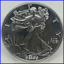 ONE HALF TROY POUND. 999 SILVER PROOF SILVER EAGLE WithBOX & COA