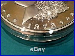 ONE POUND (12 troy oz). 999 silver MORGAN DESIGN ORIGINAL Art Round #36859