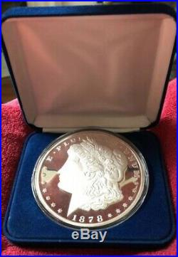ONE POUND. 999 silver MORGAN DESIGN ORIGINAL Art Round #2289