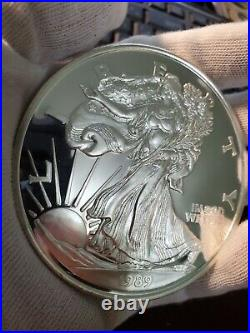 ONE TROY POUND (12 oz) OF 1989.999 SILVER ROUND PROOF