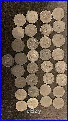 Old one pound uk coins (x40+) included citys and much more