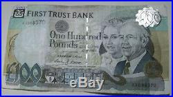 One Hundred Pounds Sterling First Trust Bank Northern Ireland Belfast AA088370