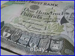 One Hundred Pounds Sterling First Trust Bank Northern Ireland Belfast AA296686