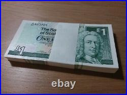 One Hundred Royal Bank Of Scotland Mint Condition Scottish One Pound £1 Notes