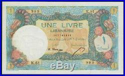 One Lebanese Pound 1945 Une Livres Libanaise 1945 Liban Libano Lebanon