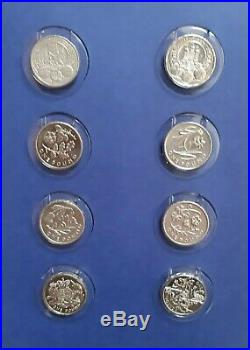 One Pound £1 Coin Extended Album Complete 45 Circulated & 5 Uncirculated Coins