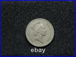One Pound 1989 DECUS ET TUTAMEN