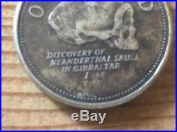 One Pound Coin Discovery of the Neanderthal Skull 2013
