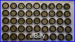 One Pound Coin full Set 46 Coins / £1 Pound Coin 1983-2016 Edinburgh BU+More BU