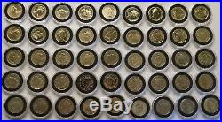 One Pound Coin full Set 46 Coins / £1 Pound Coin 1983-2016 Great Condition