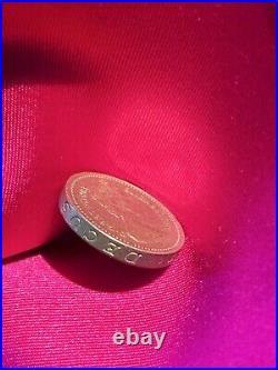 One Pound Fehlprägung Münze Queen Elisabeth II DECUS ET TUTAMEN Royal Arms 1983