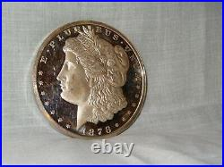 One Pound Of. 999 Fine Silver Art Round Morgan Dollar Desgn 11.895 Troy Ounces