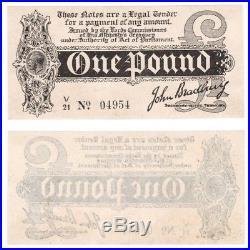 One Pound Treasury Note (1914) Bradbury BYB ref TR10d aUNC condition